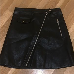 Leather skirt, NEVER WORN
